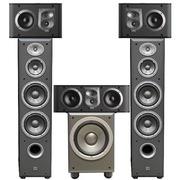 JBL E90BK+ES10BK+ES25CBK+E150PBK 5.1家庭影院ES系列 (黑色)