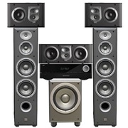 JBL E90BK+ES10BK+ES25CBK+E150PBK+AVR151 5.1家庭影院ES系列(含功放机)黑色