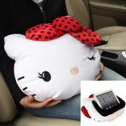 凯蒂猫 Hello Kitty系列 KT 大娇点系列车用多功能IPAD平板用抱枕 红色