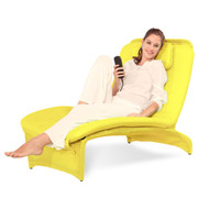 艾力斯特 SL-B01 单人折叠电动按摩沙发椅贵妃懒人椅 阳台椅 休闲按摩椅 黄色