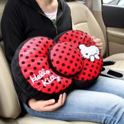 凯蒂猫 Hello Kitty系列 KT 大娇点系列 蝴蝶结车用腰抱枕 红色