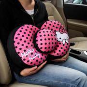 凯蒂猫 Hello Kitty系列 KT 大娇点系列 蝴蝶结车用腰抱枕 粉红色