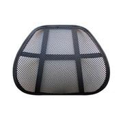 石家垫 汽车腰靠  透气全黑大网孔靠垫 四季通用 办公椅腰靠 黑色 1个