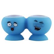 CKY 蓝牙音箱便携可爱B仔 小米手机迷你小音响立体声平板电脑吸盘支架音箱 车载免提通话 浅蓝色