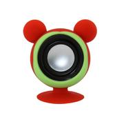 亚力盛 大耳鼠迷你便携吸盘支架小音箱 防水低音炮适用于手机平板电脑 红色