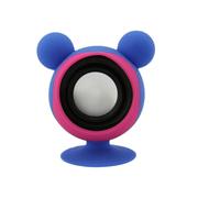 亚力盛 大耳鼠迷你便携吸盘支架小音箱 防水低音炮适用于手机平板电脑 浅蓝色