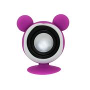 亚力盛 大耳鼠迷你便携吸盘支架小音箱 防水低音炮适用于手机平板电脑 浅紫色