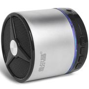 维尔晶 BT05DS无线蓝牙音箱 插卡音响 重低音低音炮 免提通话 1代银黑