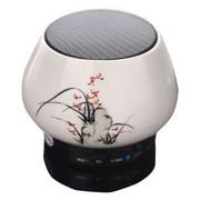 爱玛科 便携无线插卡蓝牙音箱 迷你陶瓷工艺小音响 AI-T13 兰花