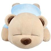 COOMAX 可爱趴趴熊音乐枕卡通泰迪熊抱枕头创意生日开学礼物 送女生 白色