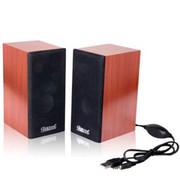 蓝色妖姬 ) S60 全木质音箱 实木音箱 2.0电脑音箱 USB小