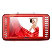 金正 视频播放器S-58 9寸视频扩音器老人看戏机唱戏机多功能收音机带电视 红色标配+4G戏曲广场舞视频卡