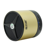 维尔晶 BT05DS无线蓝牙音箱 插卡音响 重低音低音炮 免提通话 2代金色 支持一键接听