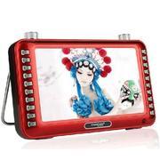 紫光电子 MV-S503 7英寸 大屏MP5 老人看戏机 高清视频 天线收音机 红色 官方标配
