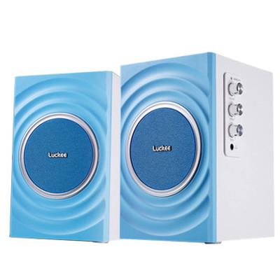 乐天下 luckee C126水韵 2.0有源多媒体音响 电脑桌面迷你音箱产品图片2