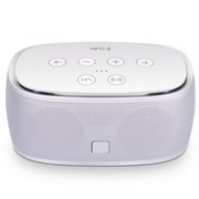 蒙奇奇 蓝牙音箱低音炮立体声 无线蓝牙插卡音响 NFC自动配对 银色