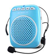 十度 S308 小蜜蜂扩音器教学专用便携式导游扩音器大功率扩音机插卡音箱播放器小音箱迷 天空蓝丨送专用充电器