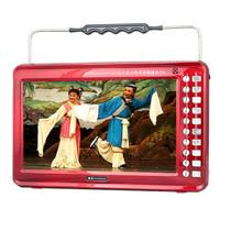 金正 视频播放器M22B 13寸高清播放器老人看戏机唱戏机支持全格式可插卡U盘 大 红色标配+4G戏曲广场舞视频卡产品图片主图