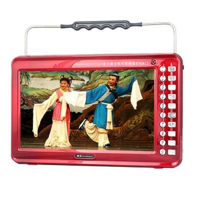 金正 视频播放器M22B 13寸高清播放器老人看戏机唱戏机支持全格式可插卡U盘 大 红色标配+4G戏曲广场舞视频卡产品图片1