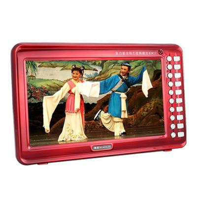 金正 视频播放器M22B 13寸高清播放器老人看戏机唱戏机支持全格式可插卡U盘 大 红色标配+4G戏曲广场舞视频卡产品图片3