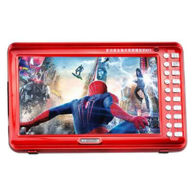 金正 视频播放器M22B 13寸高清播放器老人看戏机唱戏机支持全格式可插卡U盘 大 红色标配+4G戏曲广场舞视频卡产品图片4