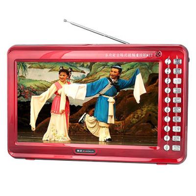 金正 视频播放器M22B 13寸高清播放器老人看戏机唱戏机支持全格式可插卡U盘 大 红色标配+4G戏曲广场舞视频卡产品图片5