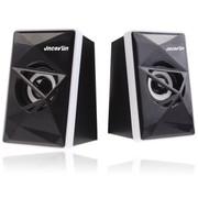杰科瑞 JS-M36 白色 2.0重低音振膜小金刚 电脑音箱 笔记本音箱 USB多媒体音箱