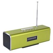 蒙奇奇 便携插卡小音箱 插U盘收音机 户外音响MP3播放器低音炮 白 色