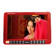 先科 移动视频播放器ST-1580 20.8寸超大高清屏支持3D老人看戏机 带电视收音扩音器 红色标配+4G戏曲广场舞卡