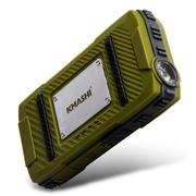 柯玛仕 户外移动电源10400毫安 强光便携 适用于苹果iphone5s手机充电宝三星通用 军绿色