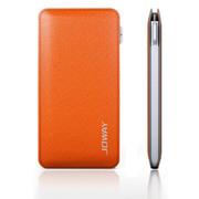 乔威 乔威 皮克手机充电宝移动电源 便携式聚合物移动电源5000毫安 橙色