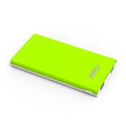 E能之芯(ELITEPOWER) 超薄移动电源 聚合物大容量充电宝 双USB智能安全手机平板通用充电宝U20 10000mAh白绿