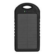 Anytime 太阳能板充电器移动电源 苹果5S三星小米手机通用 AS-5000 黑色