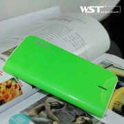 WST -A18充电宝移动电源通用型 14000mAh 双USB口自带Micro线输出 绿色