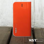 WST -A18充电宝移动电源通用型 14000mAh 双USB口自带Micro线输出 橙色