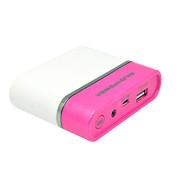 E能之芯(ELITEPOWER) 迷你移动电源 5200毫安 炫彩手机充电宝 LED照明灯 通用性充电器 粉白