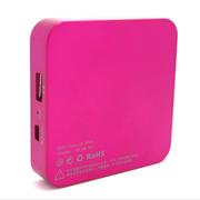 酷络 无线路由器U6无线硬盘 移动Wifi充电宝移动电源 玫瑰红色 8G