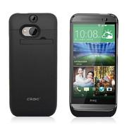 CRDC 无线背夹电池 HTC ONE M8 4500大容量背夹移动电源 M8手机充电宝 CRAM8-1 黑色