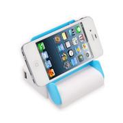 wisebrave 移动电源大容量10000毫安 迷你带镜子支架式手机充电宝器 白蓝色