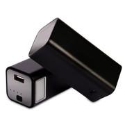 柯玛仕 台灯移动电源10000毫安 手机充电宝 铝合金 苹果 三星通用 经典黑