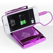 艾芭莎(Aibaasaa) 女士化妆盒移动电源 聚合物锂电池 苹果6三星小米手机通用充电宝 紫天使