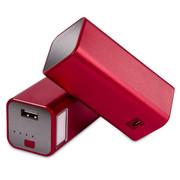 柯玛仕 台灯移动电源10000毫安 手机充电宝 铝合金 苹果 三星通用 经典红