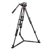 曼富图 MVH502A,546BK-1 502HD中置双管摄像三脚架套装