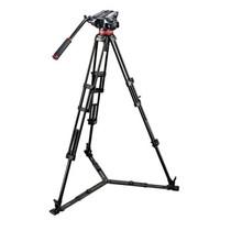 曼富图 MVH502A,546BK-1 502HD中置双管摄像三脚架套装产品图片主图