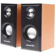 杰科瑞 JS-D92 香枫黄 2.0全木质音箱 完美音色 电脑音箱 笔记本桌面音箱 多媒体音响