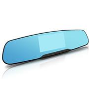 卡卡买 H850 高清广角后视镜行车记录仪夜视1080P4.3寸蓝镜防眩 行车记录仪 标配+32G卡+降压线