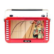 先科 【可货到付款】老人看戏机唱戏机6005 7寸老年人高清视频播放器广场舞扩音器插卡收音机 红色+16G戏曲广场舞视频卡