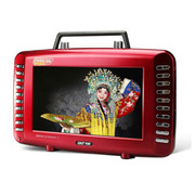 先科 视频播放器S99C 9英寸视频扩音器老年人看戏机唱戏机多功能收音机大功率视频机 红色标配+8G戏曲广场舞视频卡