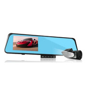 CASMELY 韩国 行车记录仪后视镜安卓双镜头高清广角夜视GPS导航仪测速一体机双镜头 4GB内存卡行车记录仪