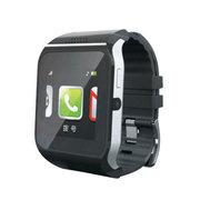 斯波兰 UPro2可插SIM卡智能手表触屏蓝牙手表手机 智能防丢 遥控拍照QQ微信远程通知 黑色